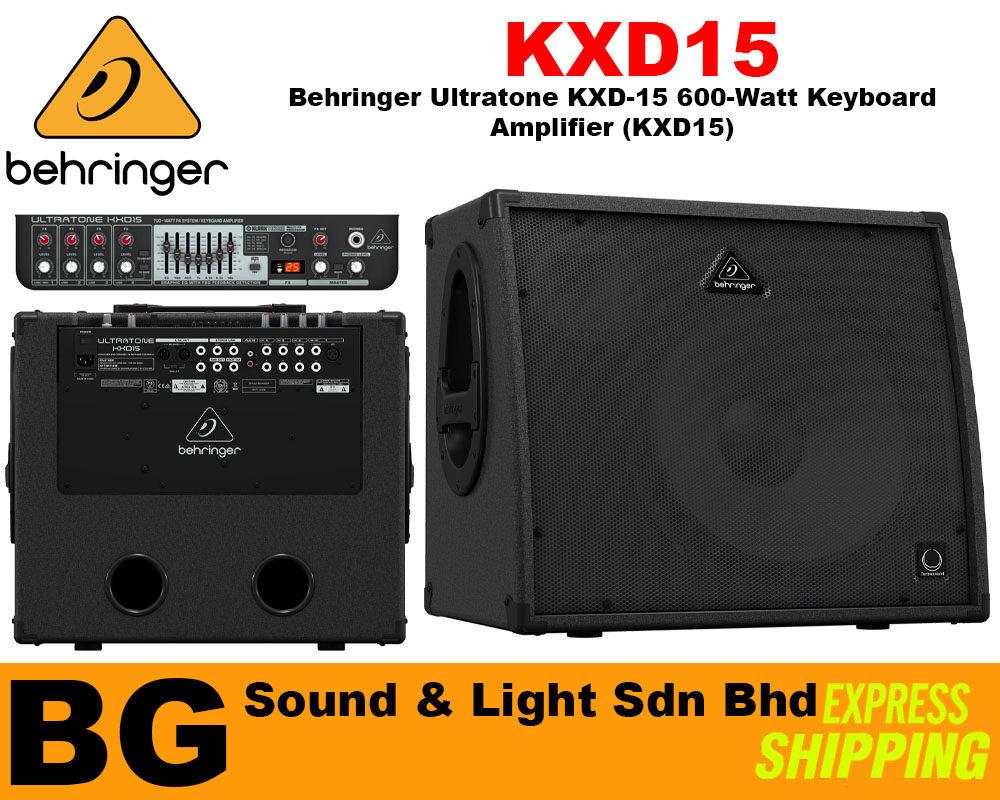 [SHIP OUT EVERYDAY]Behringer Ultratone KXD-15 600-Watt Keyboard Amplifier (KXD15)