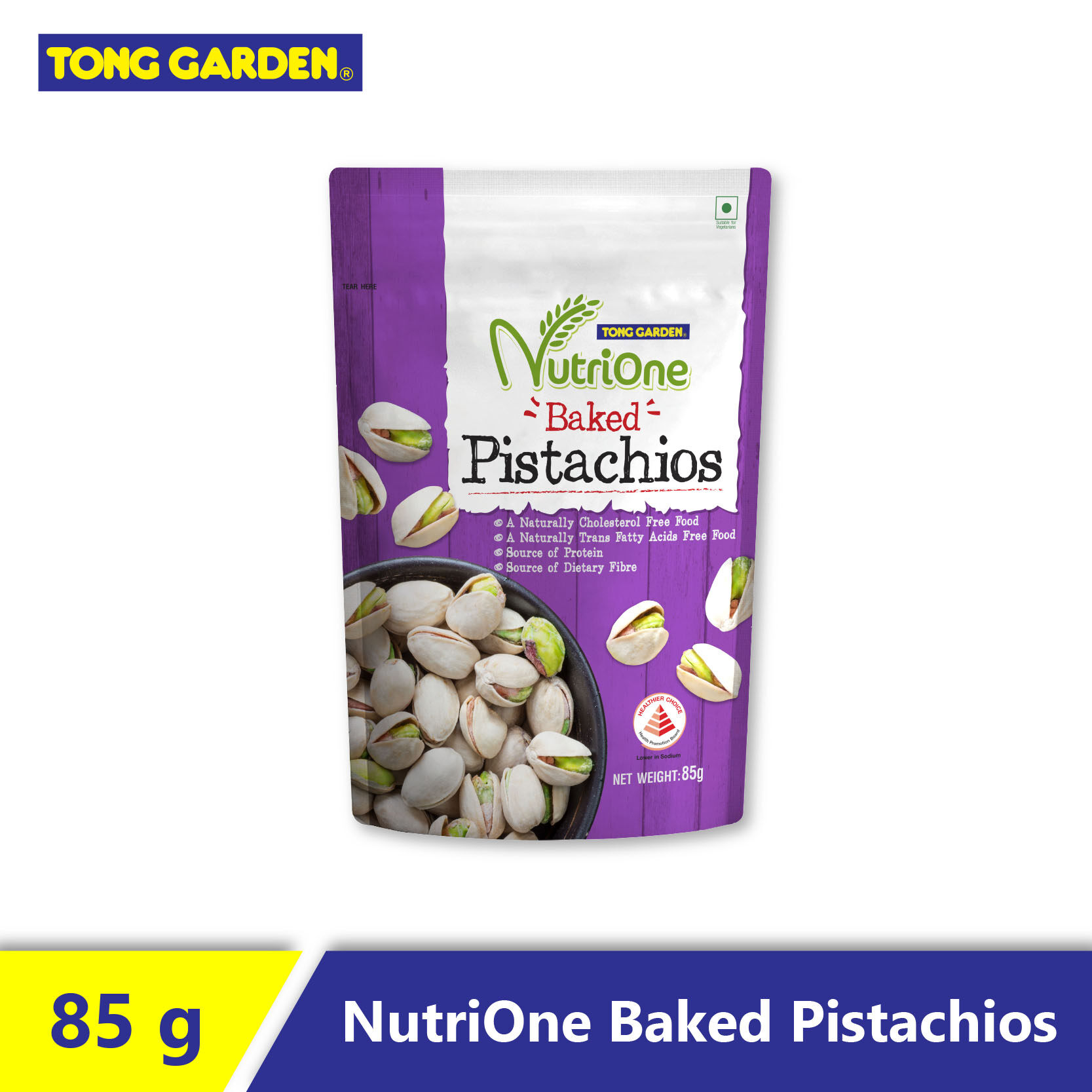 Nutrione Baked Salted Pistachios 85G