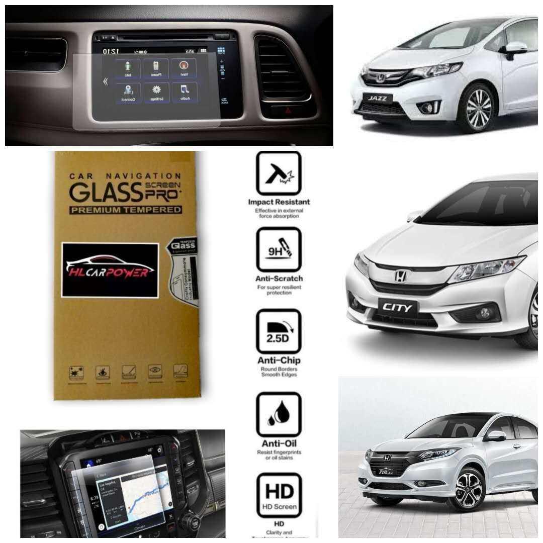 Honda Jazz Honda City Honda HRV Head Unit Navigation Screen Protector Tempered Glass
