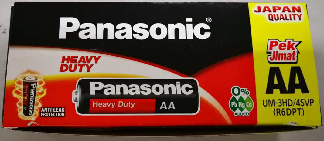 Panasonic Heavy Duty 1.5V AA Size Battery Anti-Leak Protection (Boxes)