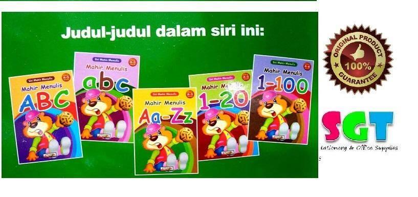 Mahir Menulis A-Z & 1-100 - For Age 4-6 ( Set of 5 Books )