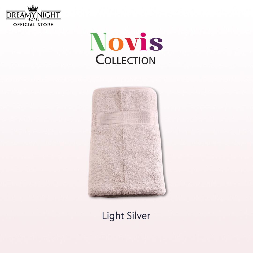 [100cm x 152cm/ 790g] Dreamynight Home Novis Collection 100% Cotton High Quality Soft & Comfortable Big Bath Towel/ Tuala Mandi Super Absorbent Hotel Towel Hand Towel Face Towel (100cm X 152cm)