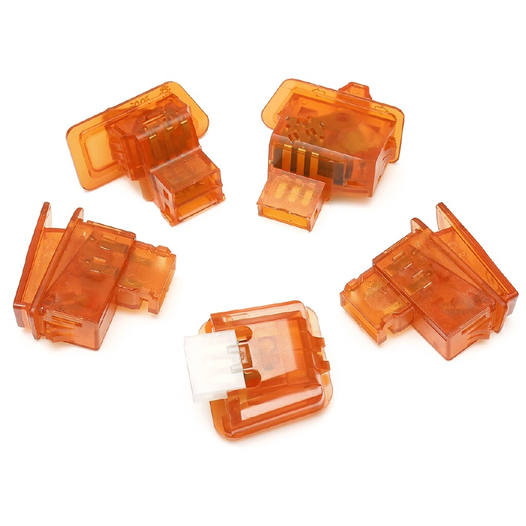 Moto Accessories - 5 PIECE(s)/lot Motorcycle Head Light Horn Dimmer Turn Signal Starter Single Switch - ORANGE / RED / GREEN