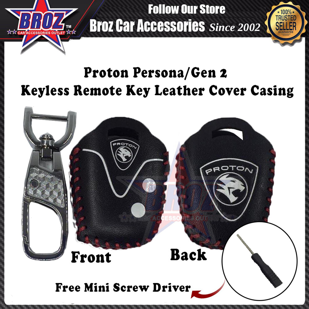 Persona/Gen 2 Keyless Remote Leather Key Cover Casing (Black)
