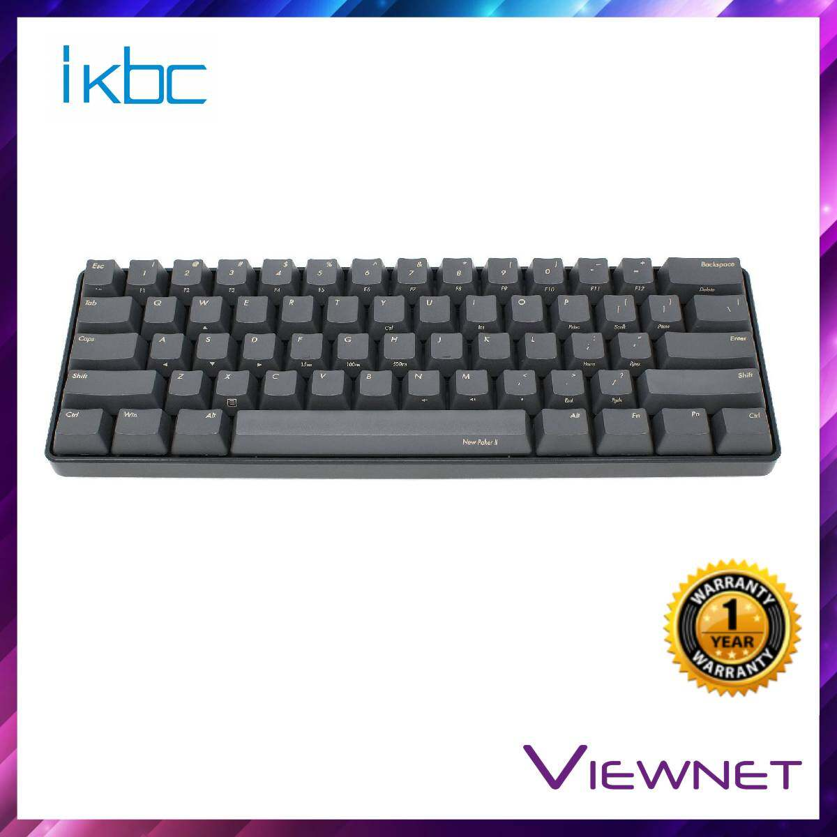 IKBC Gaming Wired New Poker II (Blue/Brown/Red Switch) Black Keyboard