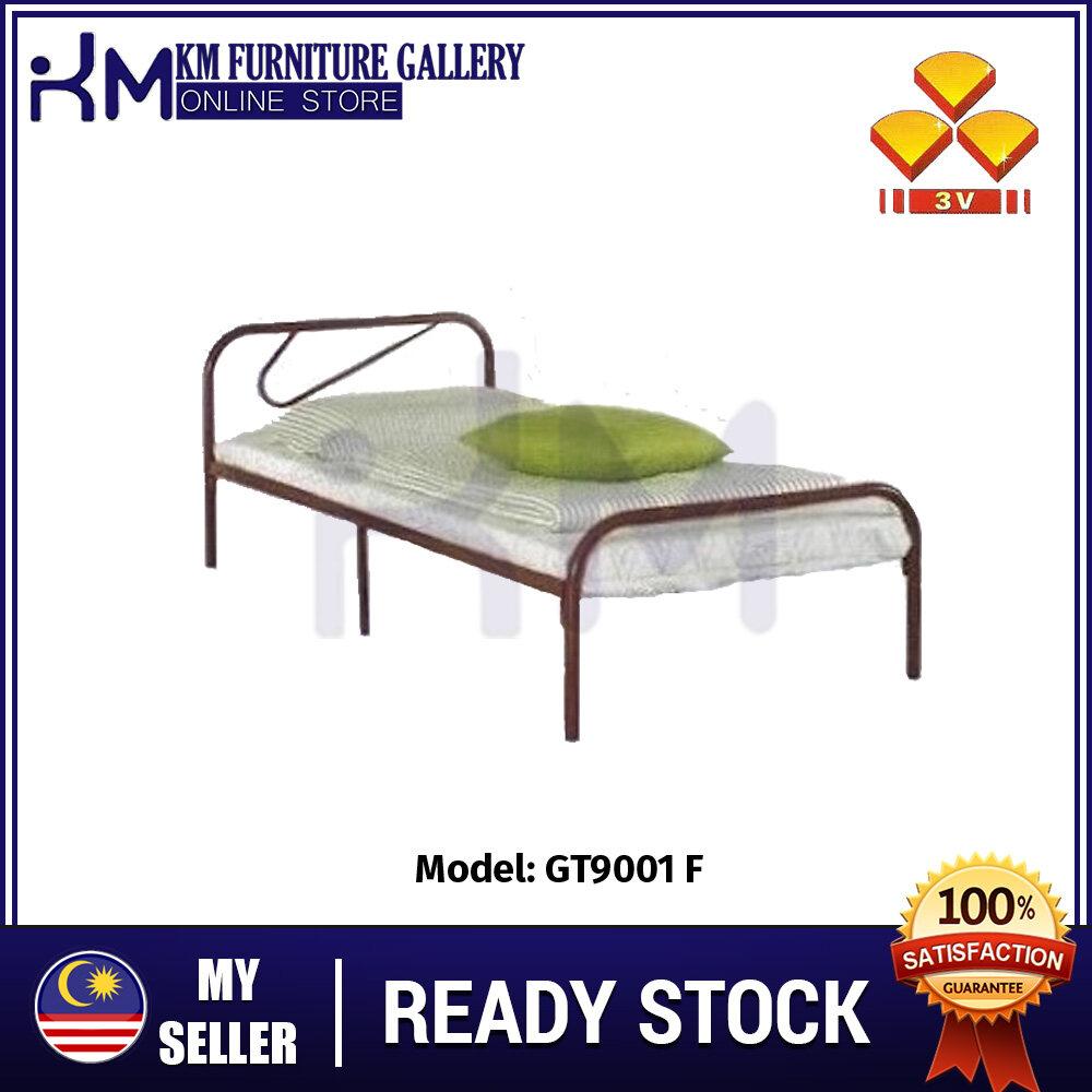 KM Furniture 3V Single Metal Bed Frame GT9001F /Katil Bujang/ Katil Besi KMGT9001F