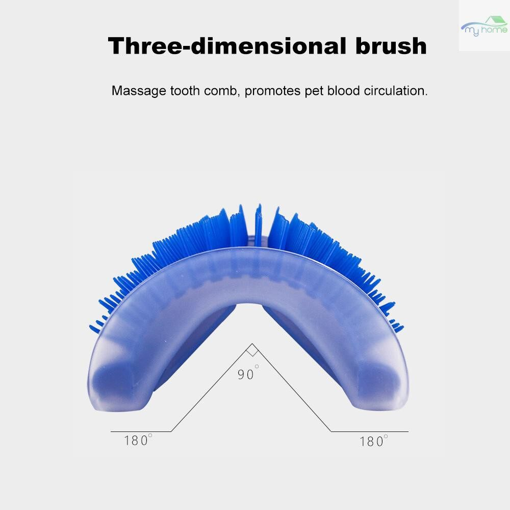 Protective Clothing & Equipment - Cat Grooming Tool Hair Removal Brush Comb for Dogs Cats Wall Corner Massage Comb with Catnip - PINK / GREY / BLUE