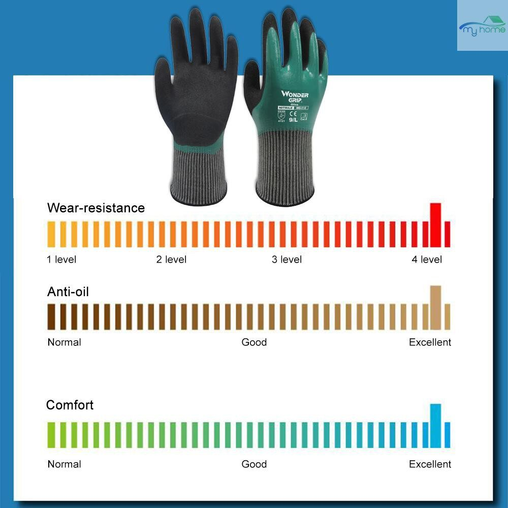 Protective Clothing & Equipment - Wonder Grip Thermo Plus Coldproof Work Gloves Double Layer Latex Coated Oil Resistance Gardening - XL / L / M / S