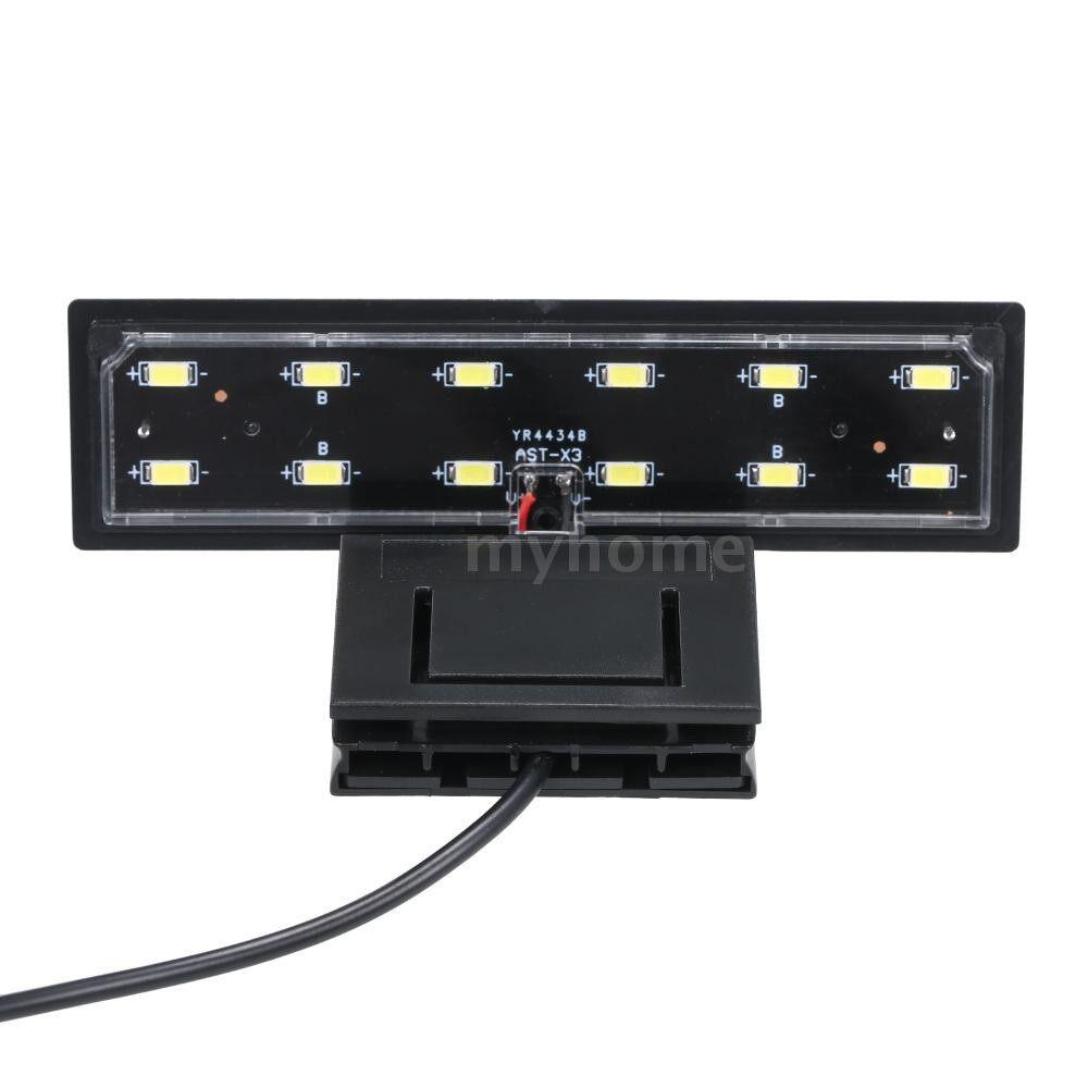 Lighting - AC220V 5W 12 LED Aquarium Light Fish Jar Lamp White Light PORTABLE - BLACK