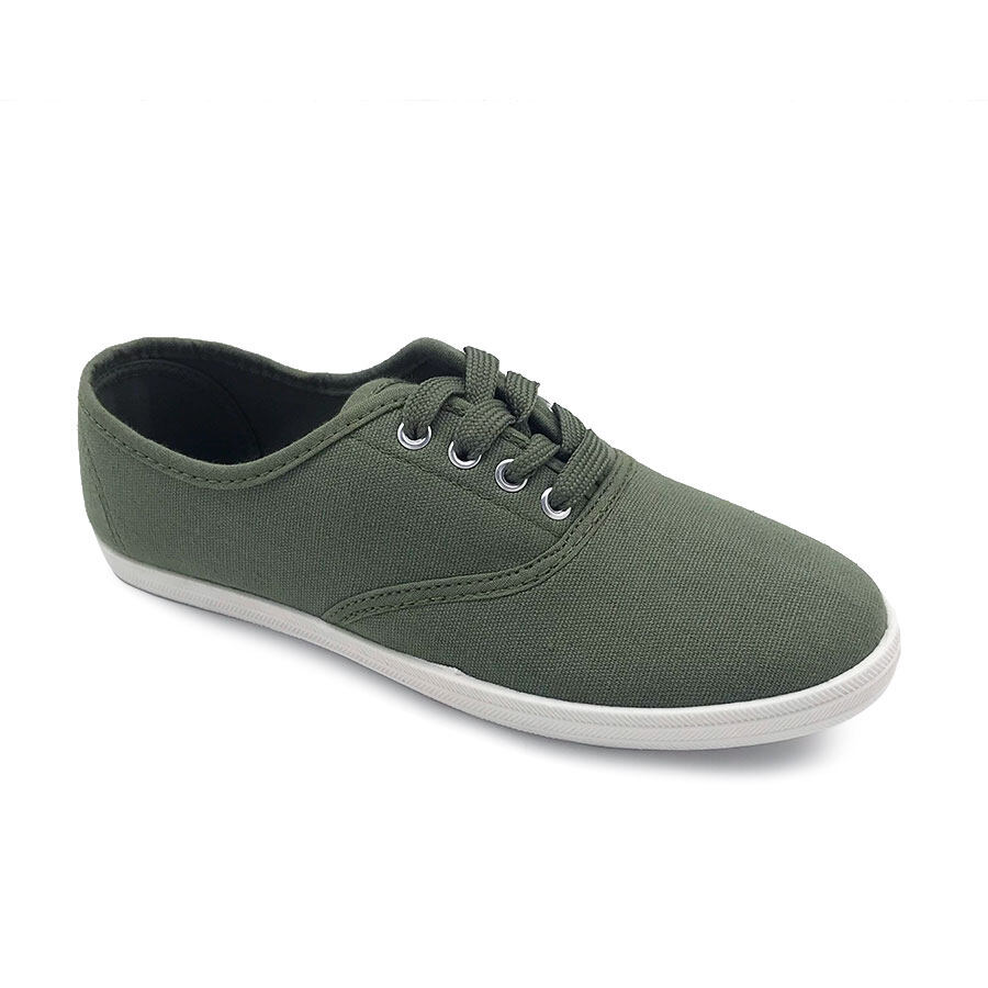 XES Ladies BSLCVT21 Casual Sneakers (Khaki Navy Blue Black)