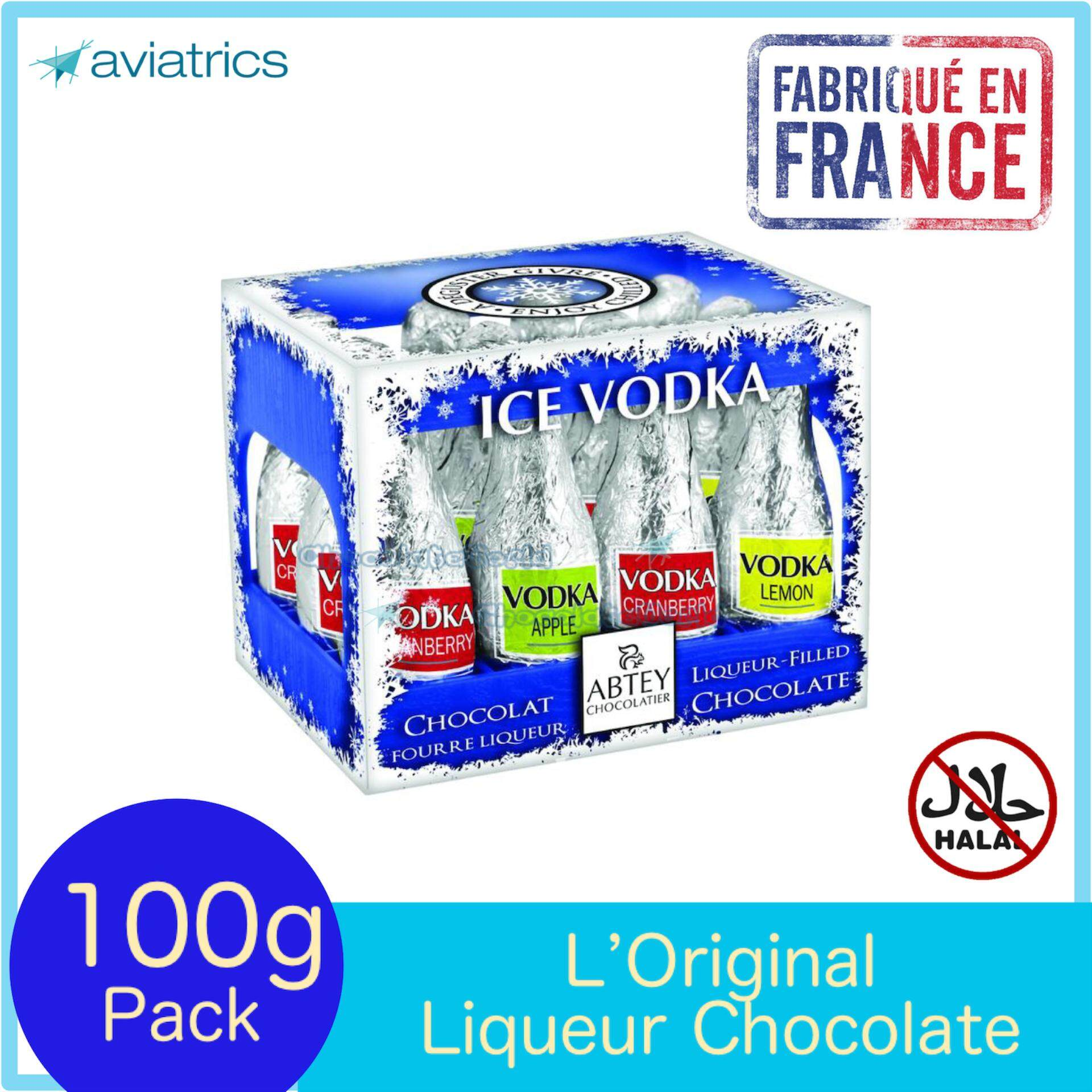 Abtey Ice Vodkaa Liqueurs Milk Chocolate 12pcs 108g (Made in France)