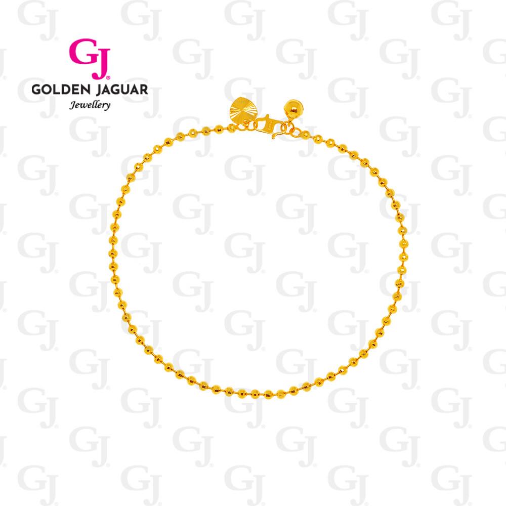 GJ Jewellery Emas Korea Anklet - Rantai/Gelang Kaki Bebola Disko (3160302)