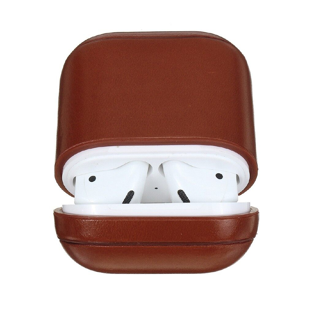 iPh Soft Cover - leather case for AirPods - RED / KHAKI / BLACK / BROWN