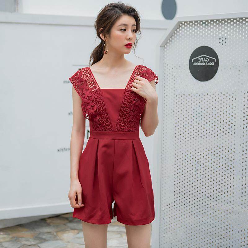 (Pre Order14 Days JYS Fashion Korean Style Women Jumpsuit Collection -5296278col529-6278--Wine Red-S