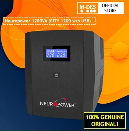 Neuropower 1200VA City 1200 W/O USB UPS / Backup Battery With 4 British Output Socket, TVSS Surge Protection