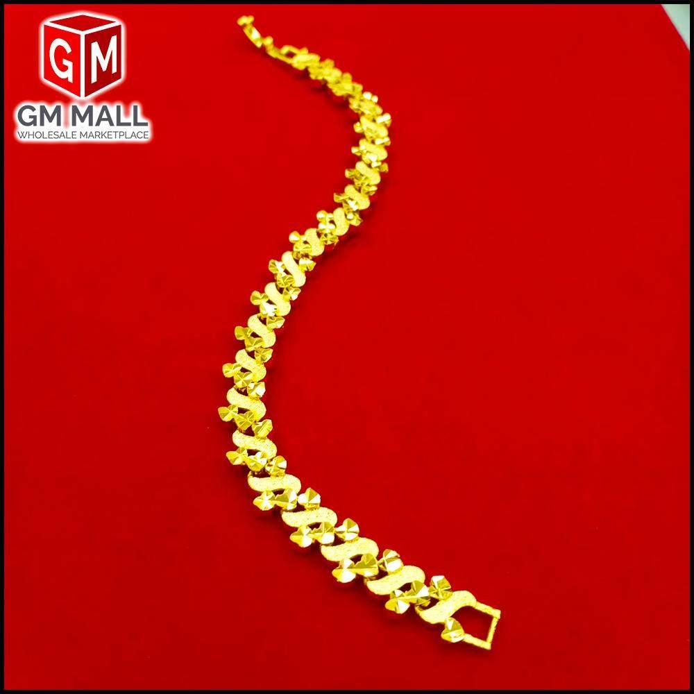 Emas Korea Jewellery - Rantai Tangan Pasir S Gold Plated (Bracelet EK-2008-6)