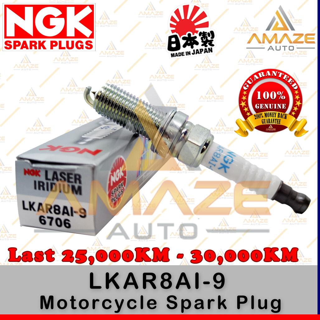 NGK Laser Iridium Spark Plug for Motorcycle LKAR8AI-9 (KTM Duke 200, 390, 990, Modenas Pulsar NS200, RS200)- Last 25,000KM - 30,000KM - Amaze Autoparts