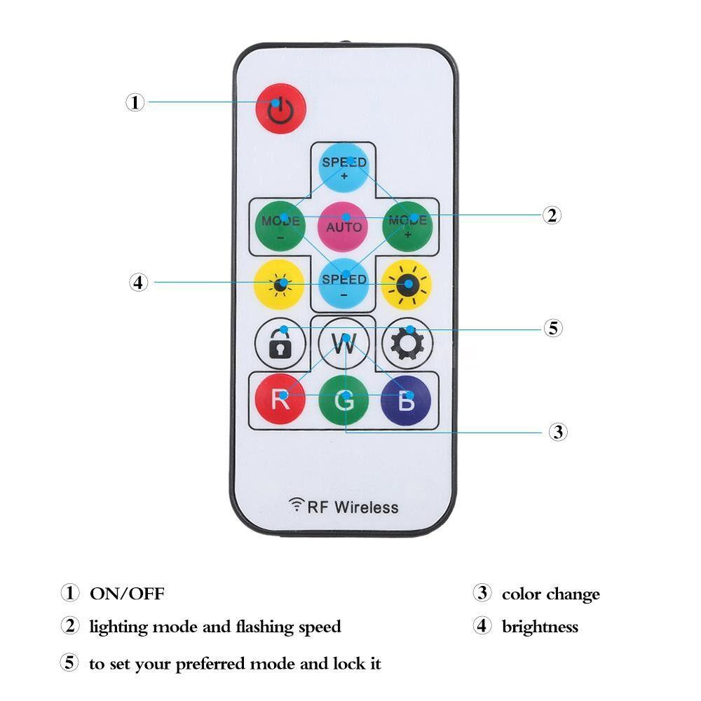 Lighting - DC 5V-24V MINI WIRELESS 17 Keys RF Remote Controller with Lock Function 300 Kinds of Color Changes - 17 KEYS WITH LOCK / 17 KEYS DIY / 14 KEYS WITH LOCK / 14 KEYS DIY