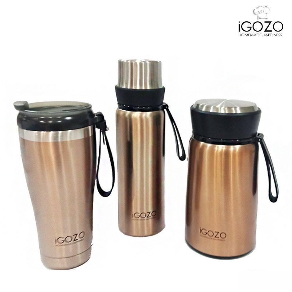 iGOZO Trio Vacuum Insulated Thermalware Set