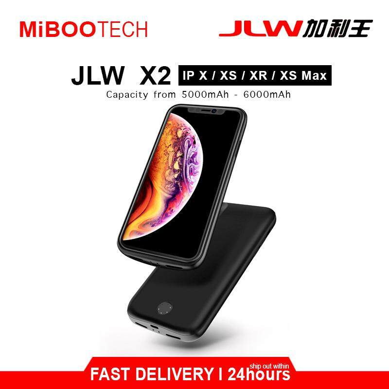 [Miboo] JLW Smart Charging Protective Battery Case 5000mAh - 6000mAh Powercase Born For iPhone X / XS / XS Max / XR (Local Warranty) - IPhone XS MAX - 6000mAh