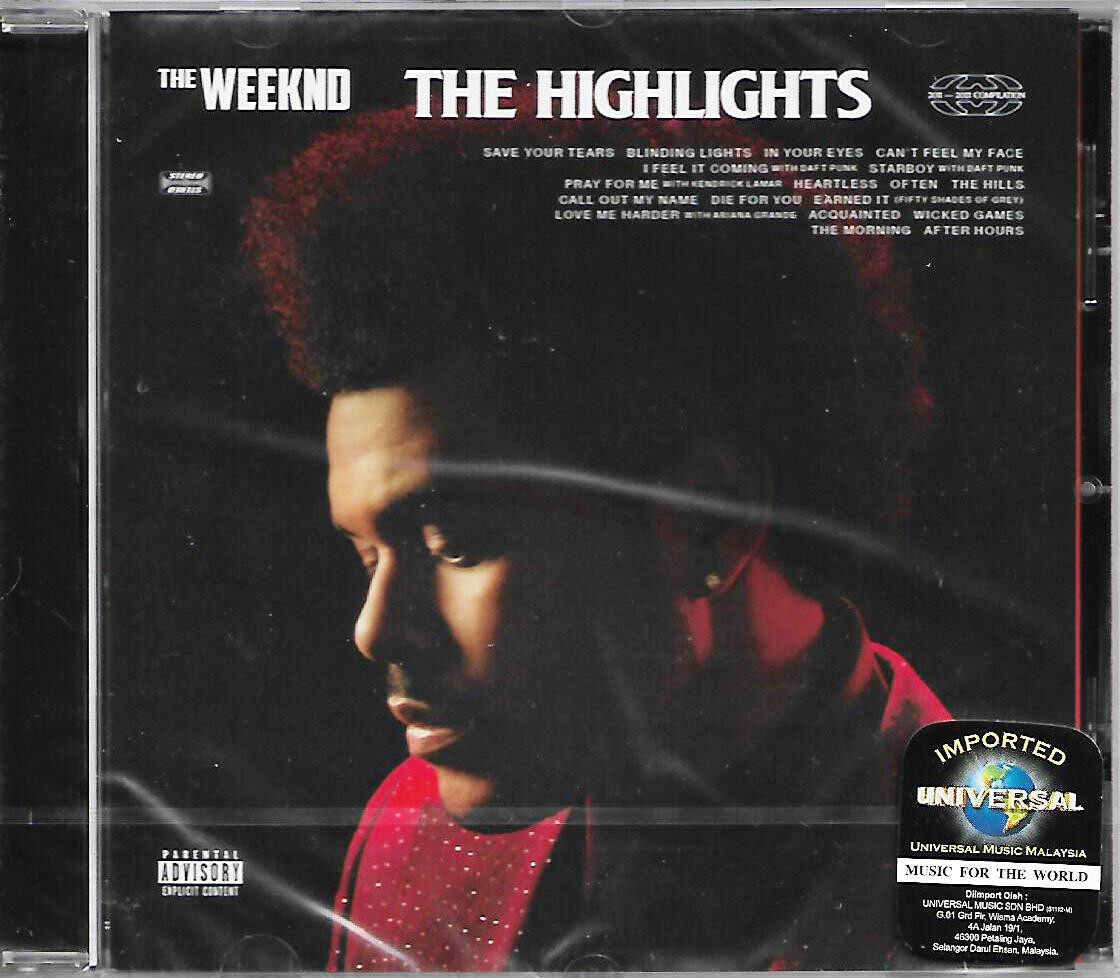 The Weeknd - The Highlights 2021 Release Album Imported CD EU Pressed Parental Advisory Explicit Content