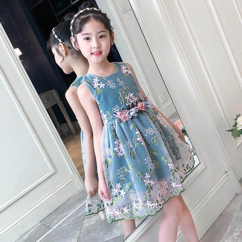 (Pre Order14 Days JYS  Fashion Korean Style Kids Girl Dress Collection ollection 518- 1012col518-1012--Green -110CM