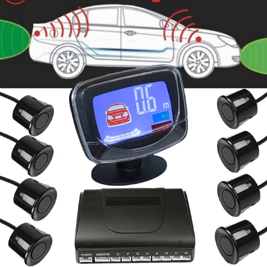 Vehicle GPS - Car LCD Display 8 Parking Sensors Rear View Front Radar System Tools - Car Electronics