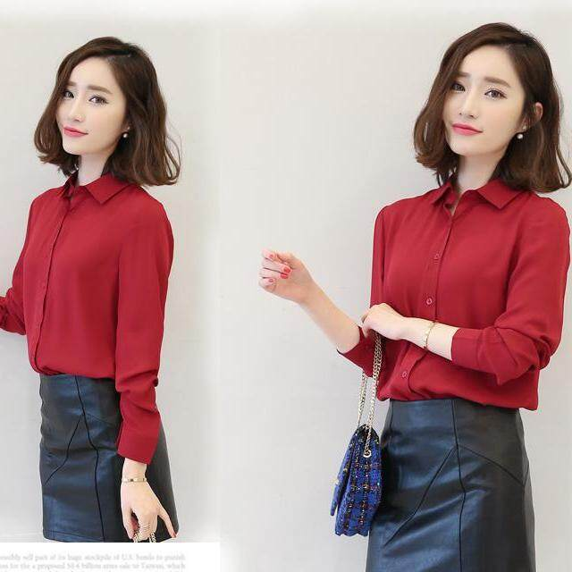 (Pre Order14 Days JYS Fashion Korean Style Women OL Top Collection-5177437col517-7437--Red -S