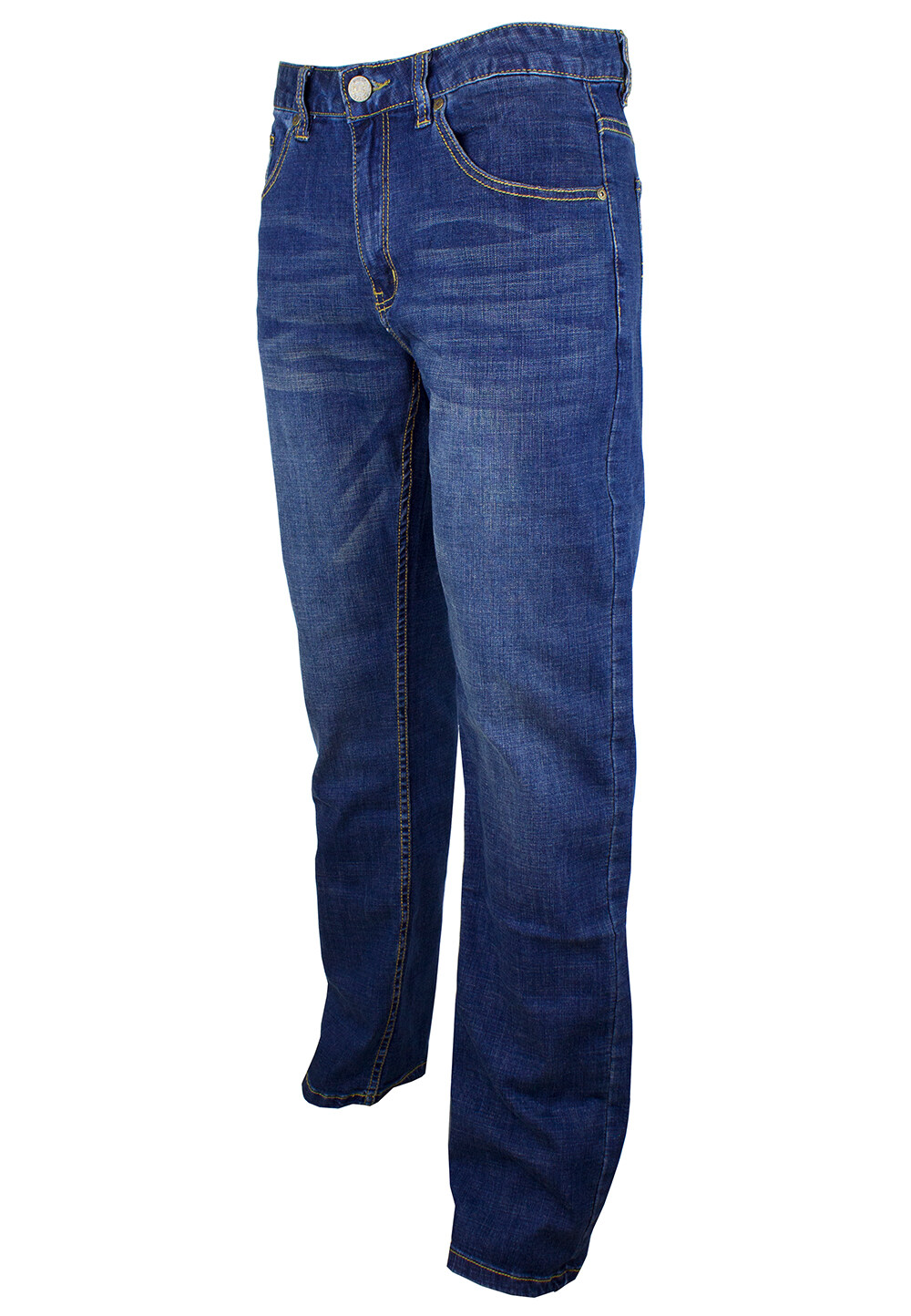 Exhaust Stretch Straight Cut Denim Long Pant 911