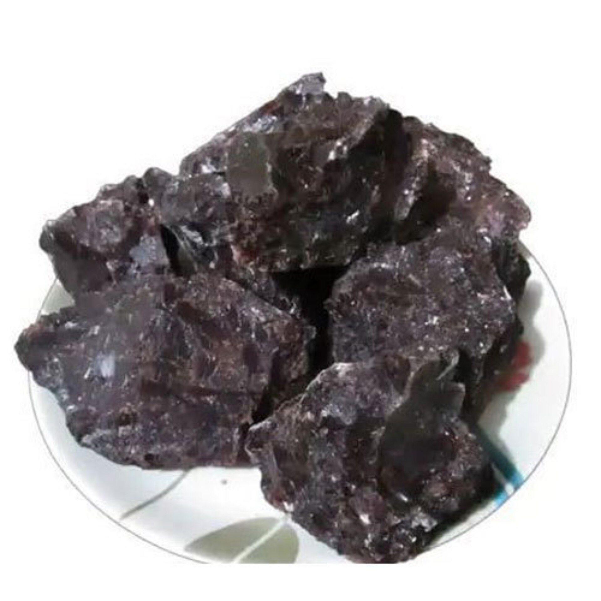 kala namak black salt Batuan Ketulan Garam bukit hitam 1kg
