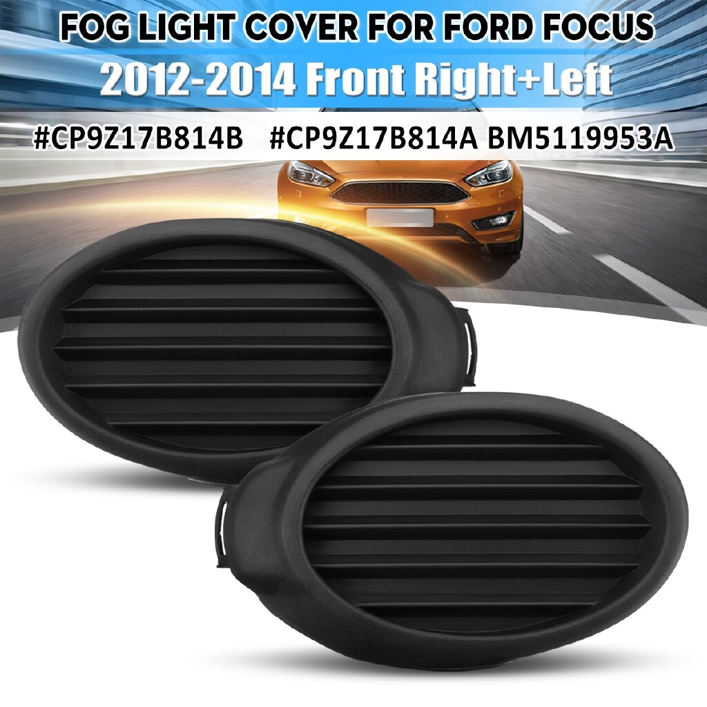 Car Lights - Front Right RH Fog Lamp Cover Vent Grille Bezels For Ford Focus 2012 2013 2014 mhestore2009 - Replacement Parts