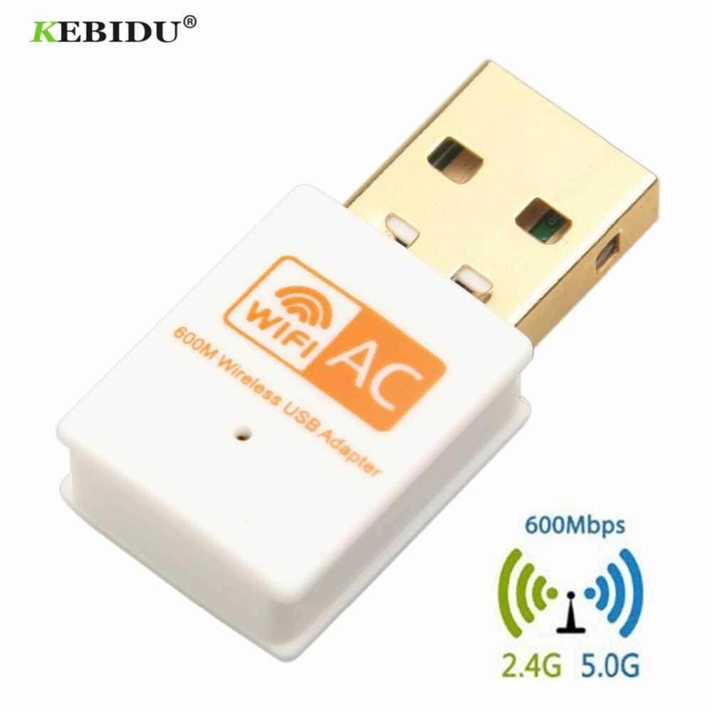 600Mbps Dual Band 5GHz Wireless Lan USB PC WiFi Adapter w/ Antenna 802.11AC