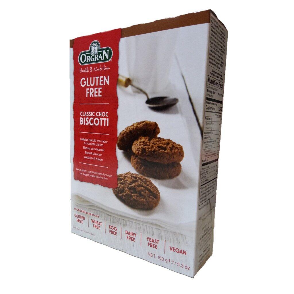 Orgran Gluten free Classic Choc Biscotti Chocolate Biscuit 150g