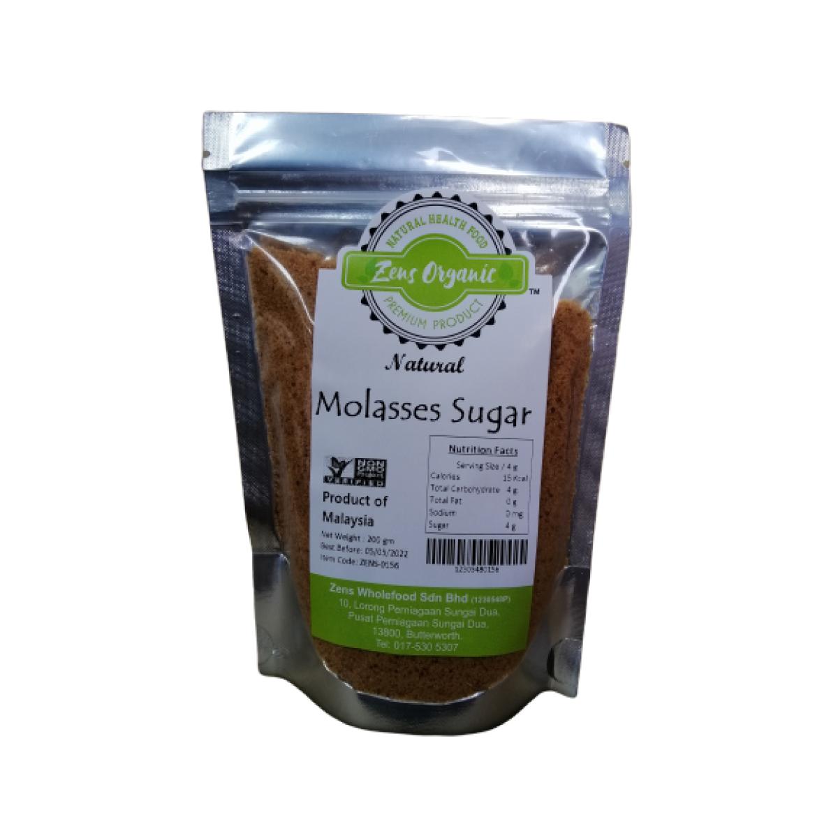 Zens Organic Natural Molasses Sugar 200g