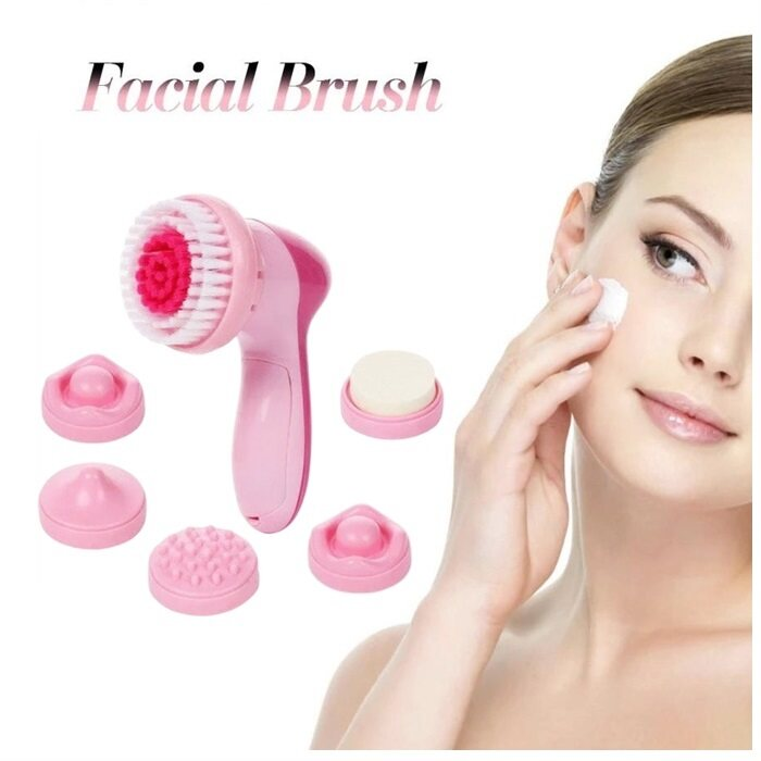 HAIRperone 6-1 Multifunction Electric Face Facial Brush Cleansing Spa Cleaning Massage