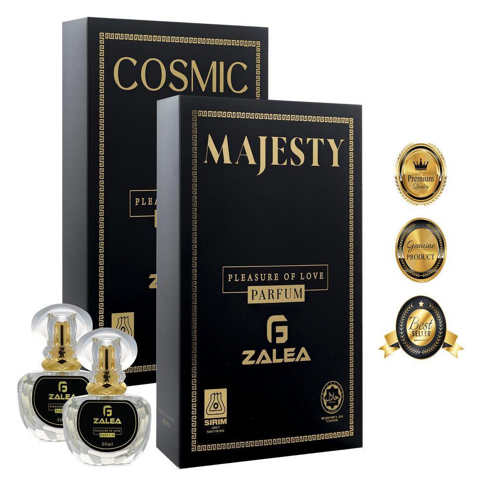 ZALEA Cosmic & Majesty Premium Halal Perfume - Lasting Up To 24 Hours (2x 30ml)