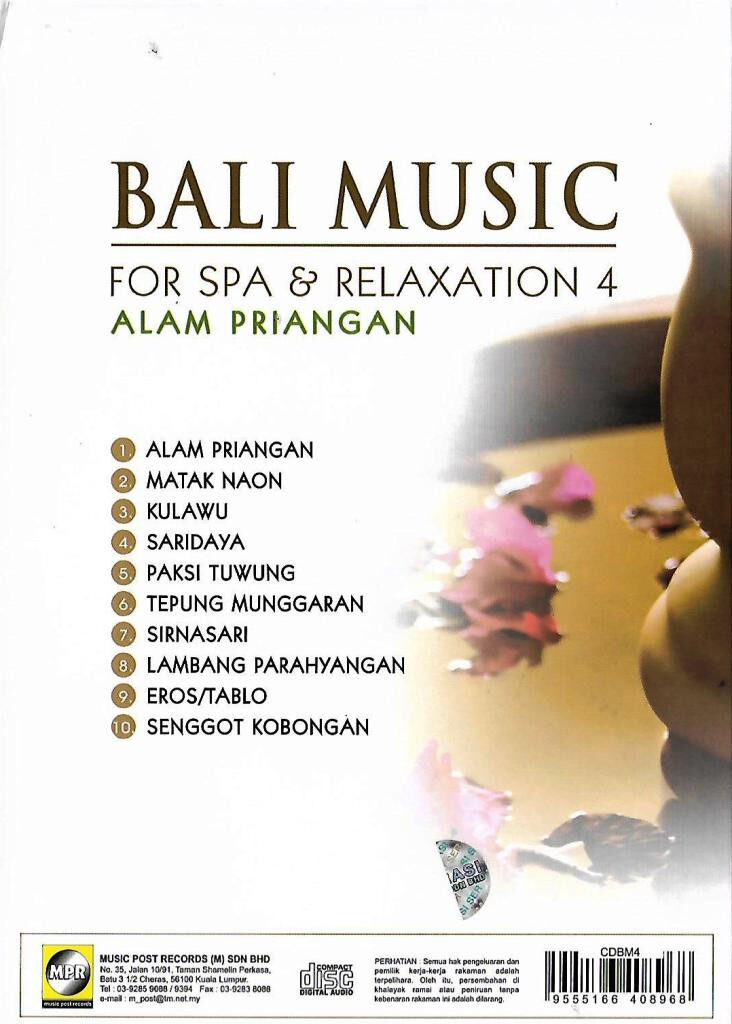 Bali Music For Spa & Relaxation Vol.4 Alam Priangan CD