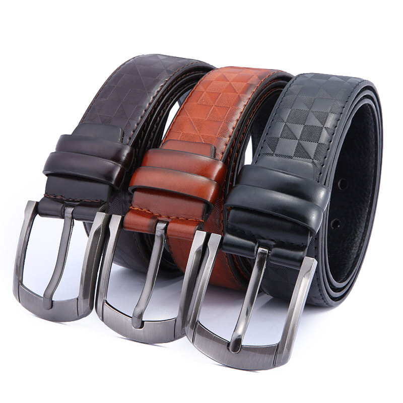 (NEW) [M'sia Warehouse Direct] 2020 Korean Series Men's Leather Pin Buckle Belt Perfect Gift For Love One (Come With Box) Luxury Classy English Style Leather Belt Suitable Formal Wear Jeans Casual Wear Belt Long Lasting Tali Pinggang Lelaki Kulit Halal