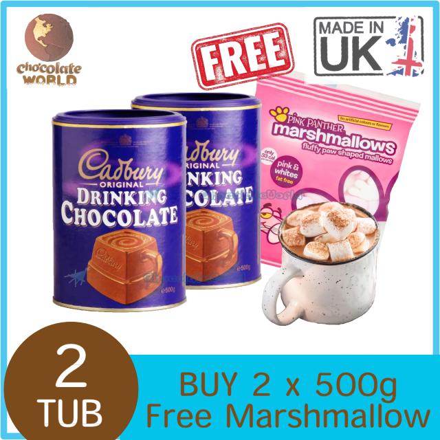 Cadbury Original Hot Chocolate Combo Pack  2x500g (Made in UK)
