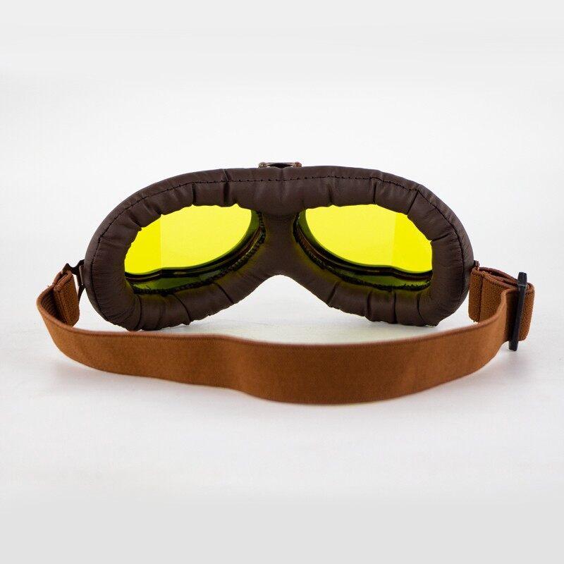 Riding Gear - Retro Vintage Eyewear Goggles Motorcycle Riding Helmet Glasses Motorcybike Racer - Motorcycles, Parts & Accessories