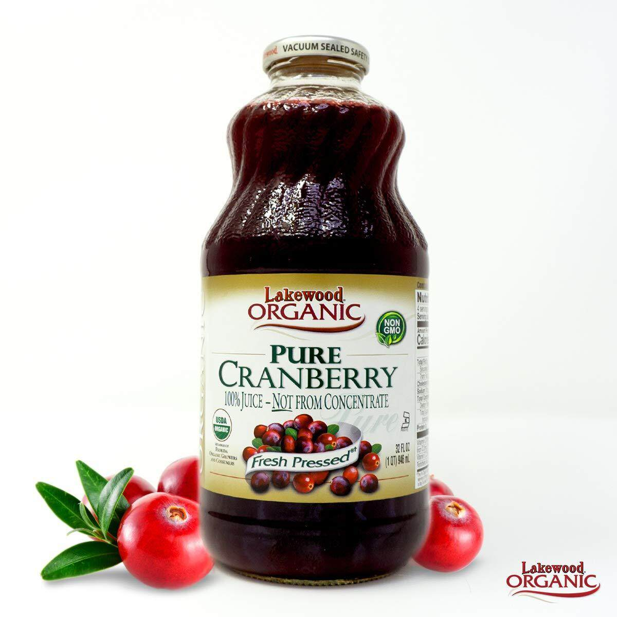 [MPLUS] LAKEWOOD PURE CRANBERRY JUICE ORG 32OZ