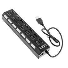 Ooree 7-Ports USB 2.0 UH701 Black USB Hub
