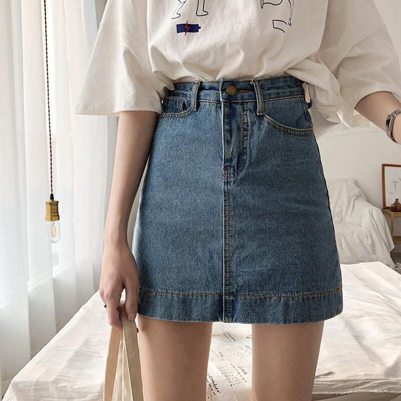 (Pre Order 14 Days) JYS Fashion Korean Style Women Jeans Skirt Collection col538-1226-dark blue-25xl