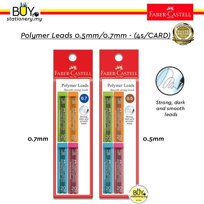 Faber Castell Polymer Leads 0.5mm/0.7mm (4s/CARD)