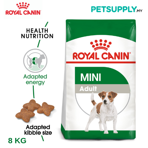 Royal Canin Dry Dog Food Mini Adult 8kg [makanan anjing - PETSUPPLY.MY]