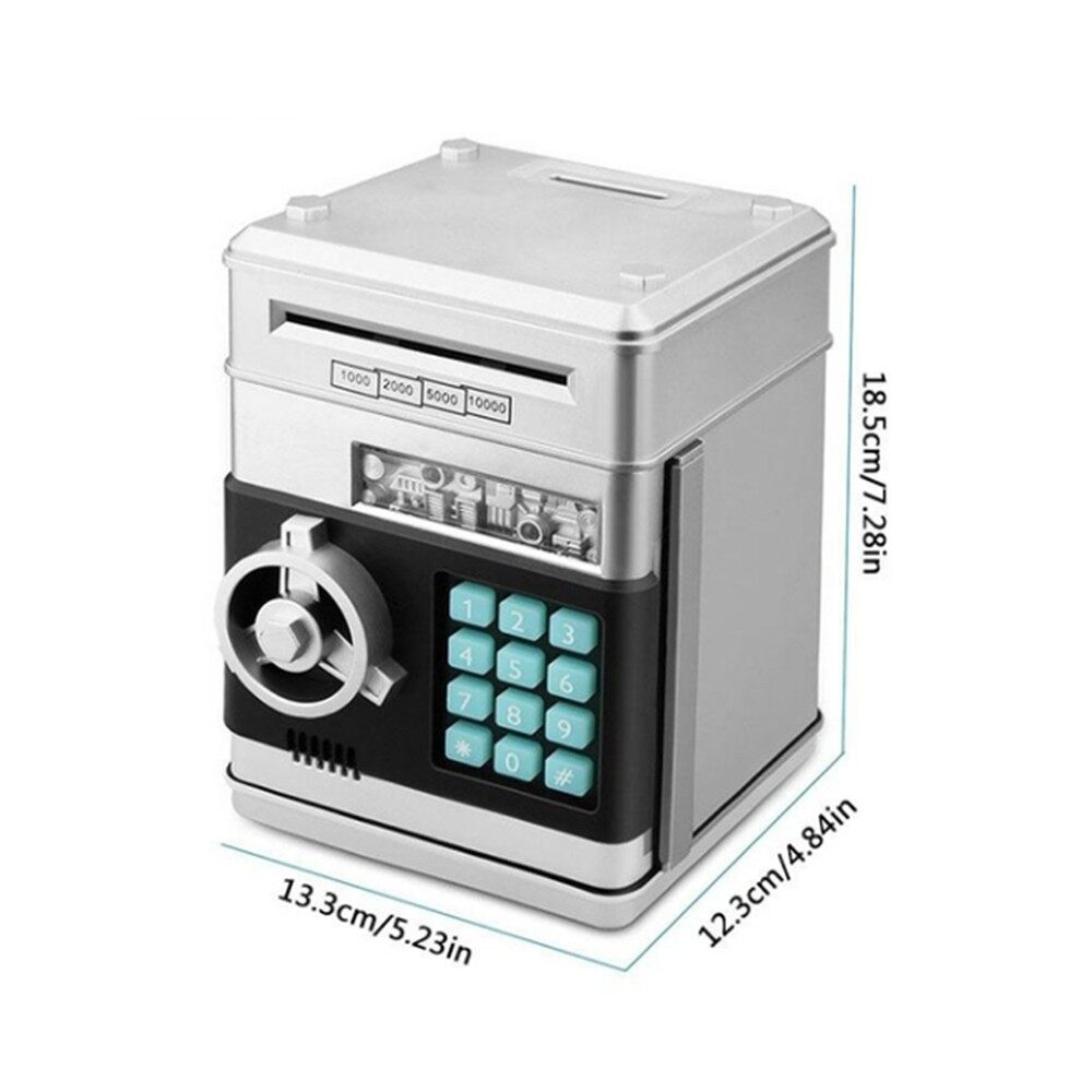 Storage Bins & Baskets - Combination Lock Password Safe Money Box Code Key Coins Cash Saving Piggy Ba - BLUE / PINK / RED / SILVER / BLACK