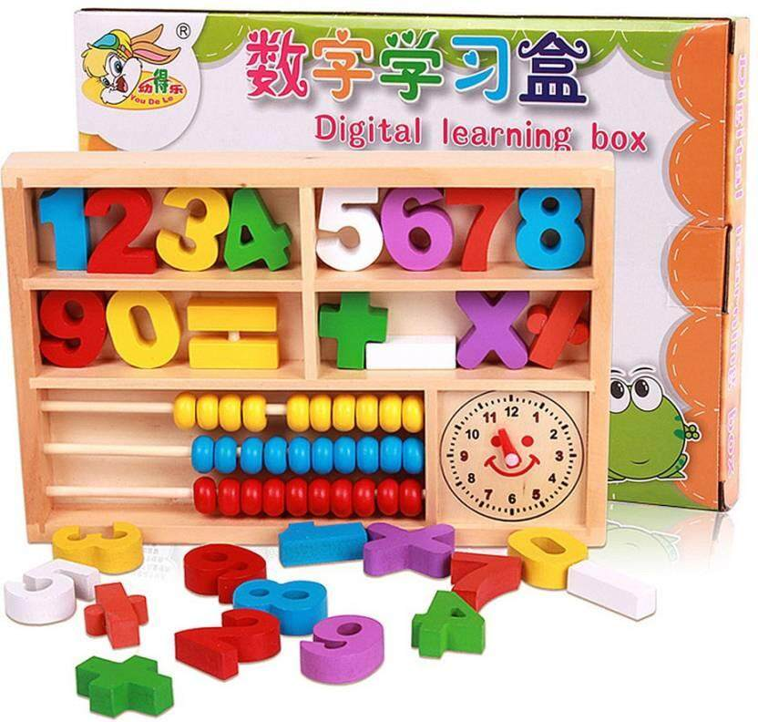 Educational Wooden Digital learning box toys for children Development Practice Toys for boys