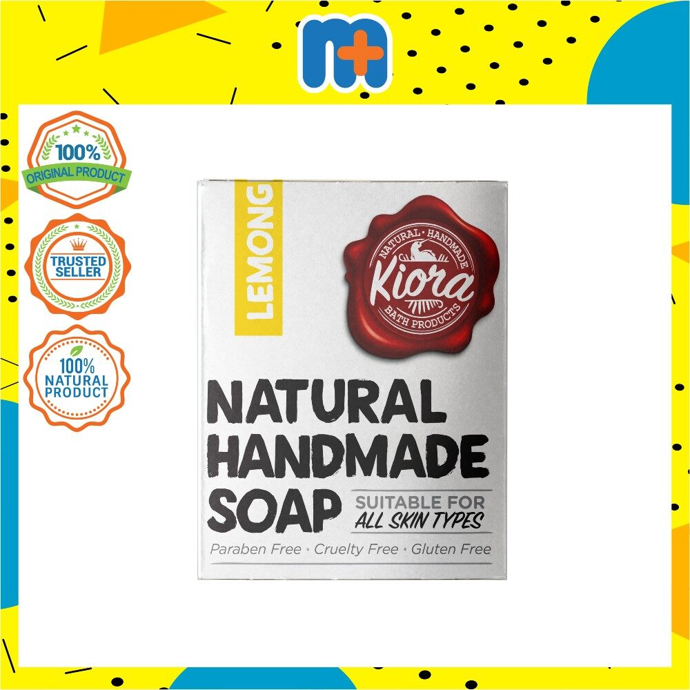 [MPLUS] KIORA Natural Handmade Body Soap - Lemongrass 150gm
