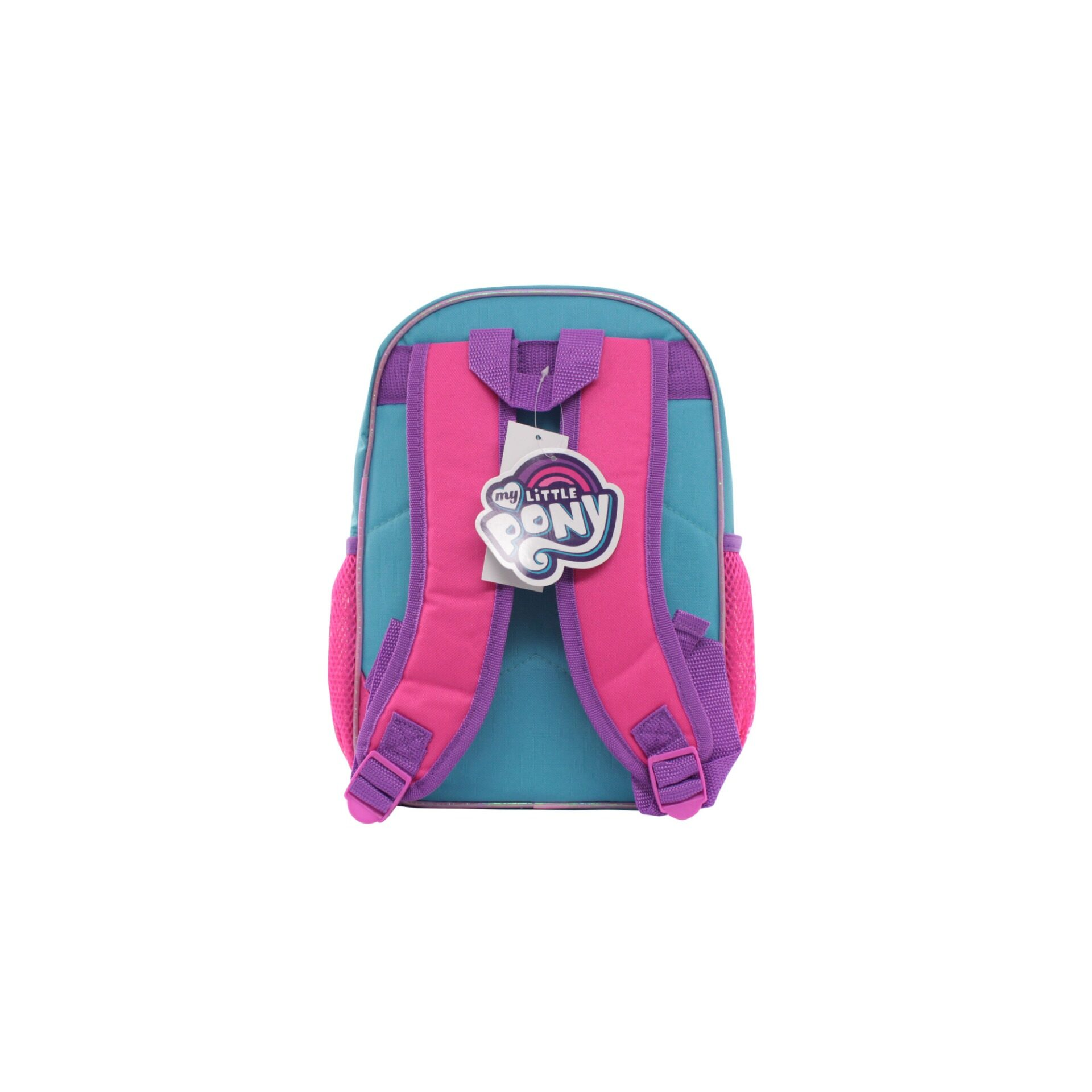 My Little Pony Twilight Sparkle Pinkie Love & Party Kids Girls 12 Inch Nylon School Backpack (Pink & Light Blue)
