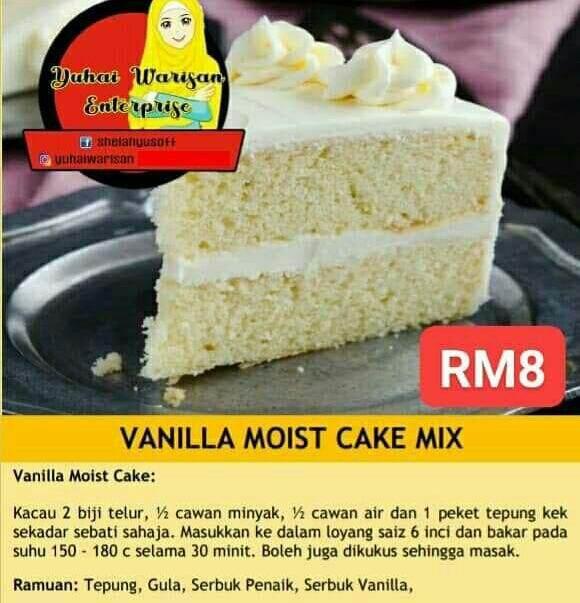 Vanila Moist Cake Mix (250g)